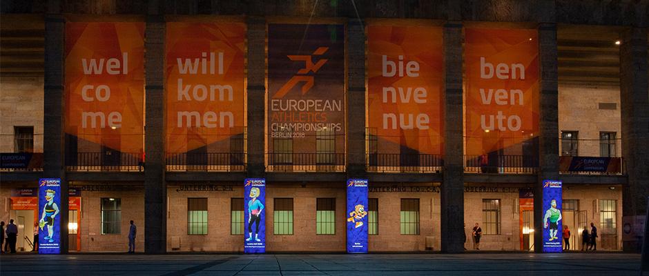 Weltpremiere bei der Leichtathletik EM in Berlin