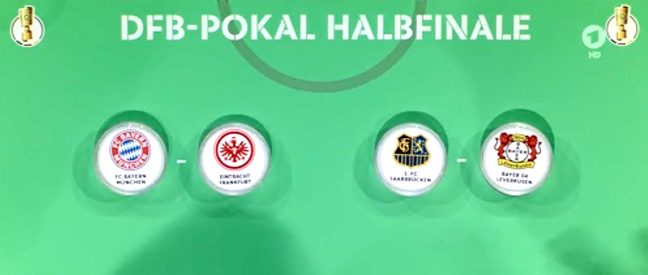 Halbfinalauslosung im DFB-Pokal
