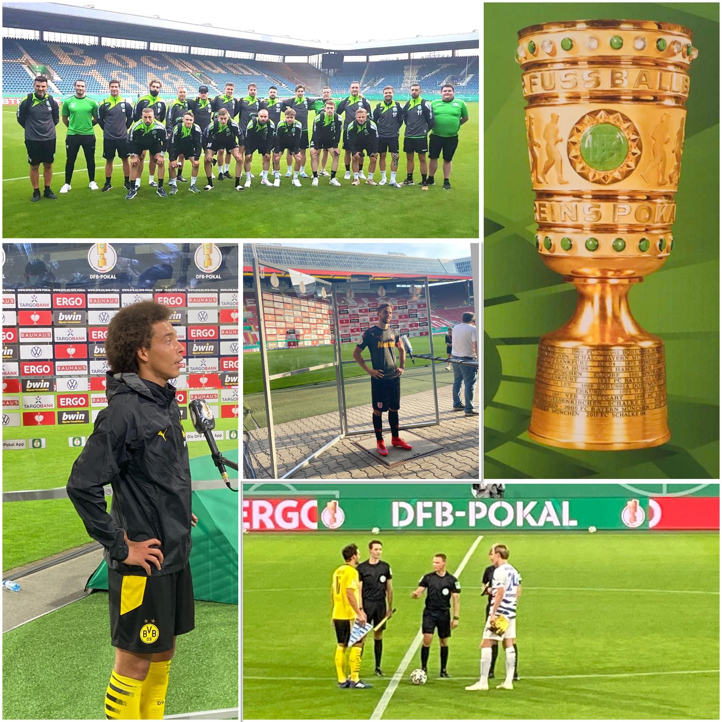 DFB Pokal mit Zuschauern